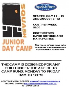 Junior Squash - Summer Camp