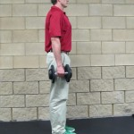 Calf Raise Shoulder Shrug - Start