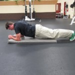 Plank with Hip Bounce - Finish