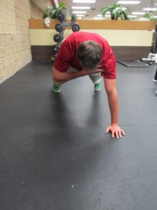 Shoulder Touch Push Up - Finish