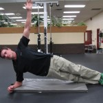 Side Plank with Hip Bounce - Start