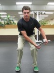 Squat with Arm Chop - Start