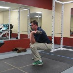 Front Squash with Shoulder Press - Start