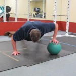 Medecine Ball Push Up - Start