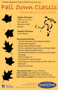 Fall Down Classic 2012 Poster