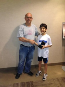 Amin with Squash Ontario President Mark Sachvie